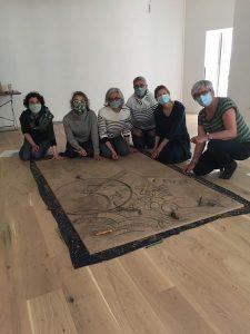 groupe de gravure au TY Shala Yoga pour l art contemporain a morlaix Mai 2021 rotated