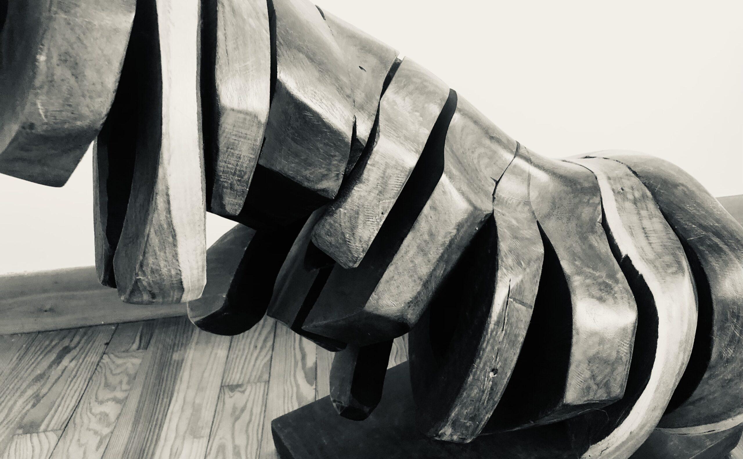 RACHIS, Sculpture de Miguel Martino, peintre et ami argentin établi au salvador